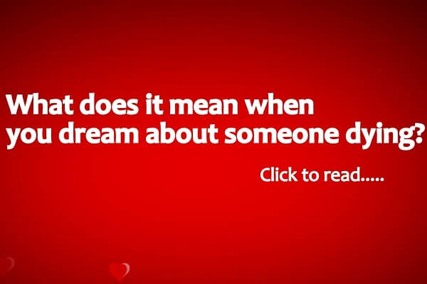 Dream Meaning of Someone Dying