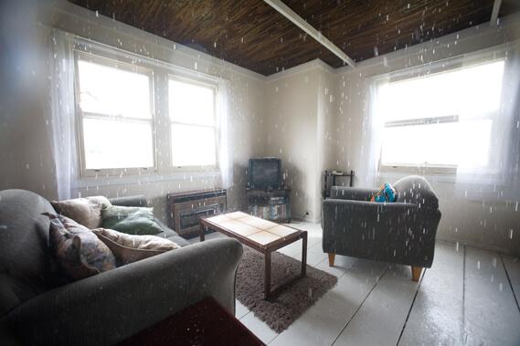 Rain Inside House in Dream