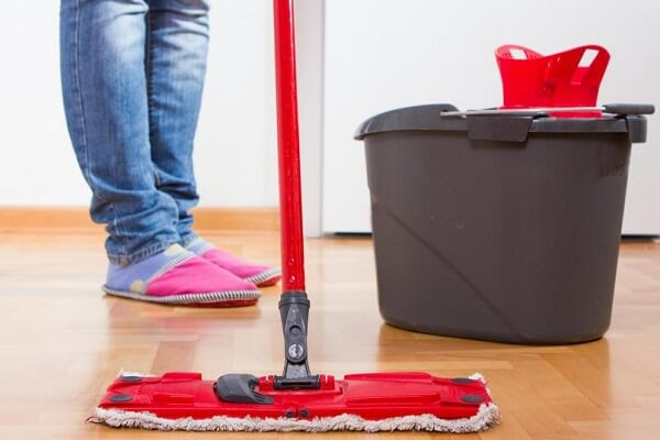 Cleaning the floor with water in Dream: What Dream About Mopping The Floor Means