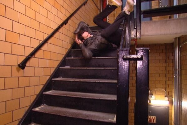 Falling from stairs in dream